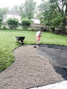 Fire Pit Landscaping, Fire Pit Backyard, Small Backyard Landscaping, Backyard Patio Designs, Diy Patio, Pea Gravel Garden, Backyard Makeover, Outdoor Fun, Outdoor Areas