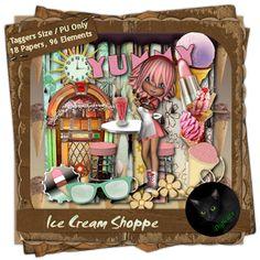 I scream, you scream, we all scream for ICE CREAM! It's a sweet summer treat for you as you take a trip to the Ice Cream Shoppe! Summer Treats, Ice Cream, Paper, Blog, No Churn Ice Cream, Icecream Craft, Blogging, Ice, Gelato