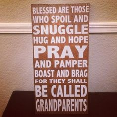 Blessed for they shall be called Grandparents Rules/Subway Wood Sign $40