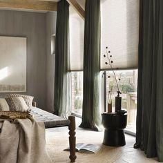 Effect van kleurencombinaties - Home sweet home - Curtains Living, Modern Curtains, Curtains With Blinds, Home And Living, Living Room, Muebles Living, New Home Designs, Living Furniture, Inspired Homes