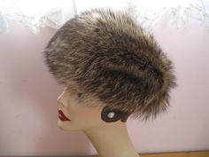 1970's Raccoon Fur Hat Snow Bunny Genuine by SusieQsVintageShop, $94.00