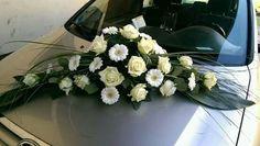 Gesteck Wedding Car Decorations, Bridal Car, Gerbera, Art Floral, Floral Wreath, Wreaths, Weddings, Flowers, Plants