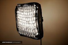 diy fabric softbox honeycomb grid