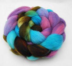 Katatomic  Hand Dyed Roving  Spinning Fiber  by DyeabolicalYarns