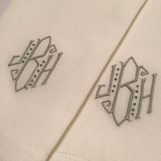Nothing better than a perfectly placed hand towel! Leontine Linens   Patrick Monogram