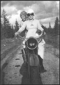 Sisters Oddny & Sigrid. They worked as milk maids during summer, a job that once occupied many girls who lived in the Norwegian countryside. circa 1925