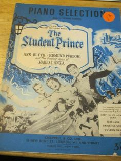 THE STUDENT PRINCE PIANO SELECTION BOOK VINTAGE #CHAPPELL Music Books, Piano, The Selection, Prince, Student, Ebay, Vintage, Pianos, Musik