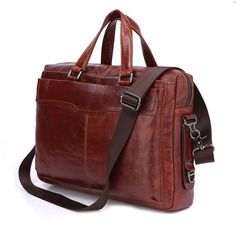 """Leather Family — Men's Document Bag 14"""" 15""""Laptop 15""""Macbook Bag Ipad Case Hign End Large Tote--FREE SHIPPING"""