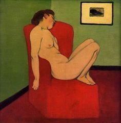 Felix Vallotton - Sitzender weiblicher Akt