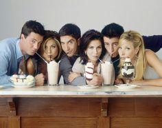 Chandler, Joey, Ross, Monica, Phoebe and Rachel