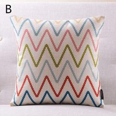 Modern Wavy geometric decorative pillows for sofa