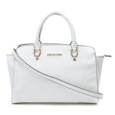 Michael Kors Large Selma Top-Zip Satchel White! Only $123.1USD