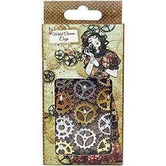 Willow Metal Charms - Cogs by Santoro London for Scrapbooks, Cards, & Crafting 12 metal charm cogs including a variety of different shapes and sizes. Pack includes 6 silver and 6 gold cogs. Arts And Crafts Supplies, Hobbies And Crafts, Blockchain Game, Santoro London, Cogs, Scrapbook Supplies, Scrapbooking, Different Shapes, Embellishments