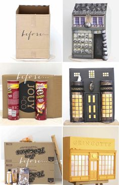 DIY Harry Potter Diagon Alley project from Kate's Creative S. - DIY Harry Potter Diagon Alley project from Kate's Creative Space Harry Potter Kawaii, Décoration Harry Potter, Harry Potter Thema, Harry Potter Diagon Alley, Harry Potter Tumblr, Harry Potter Birthday, Harry Potter Crafts Diy, Harry Harry, Harry Potter Navidad