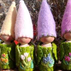 Spring Flower Gnomes Waldorf Natural storytelling by paintingpixie, $16.00