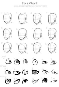 different male face shapes drawing - Google Search