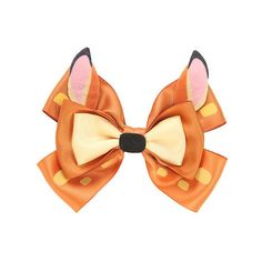 Disney Bambi Cosplay Hair Bow Hot Topic ($6.37) ❤ liked on Polyvore featuring accessories, hair accessories, disney hair accessories, disney, bow hair accessories and disney hair bows