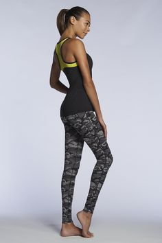 Camo running leggings, and tank. Fabletics by Kate Hudson.
