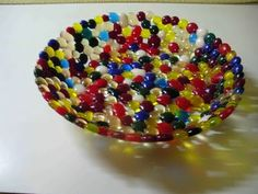 fused glass jelly bean bowl!