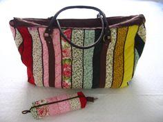 Bolsa de viagem e necessaire de patchwork