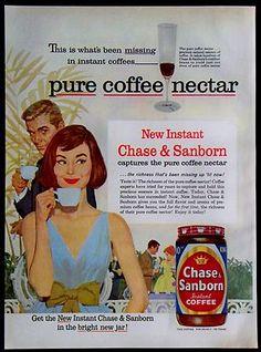 1961 Chase & Sanborn Coffee Ad