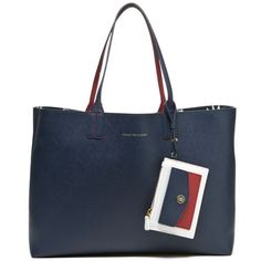 Tommy Hilfiger Navymulti Th Reversible Tote ($118) ❤ liked on Polyvore featuring bags, handbags, tote bags, pattern tote bag, tommy hilfiger, tote bag purse, tommy hilfiger purses and blue handbags