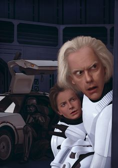Great STAR WARS and BACK TO THE FUTURE Mashup Art