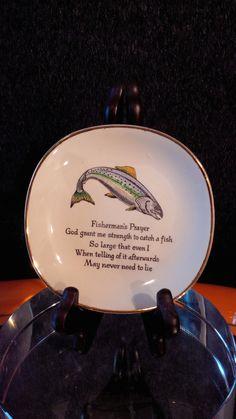 Fisherman's prayer Hanley pin dish Colorful Fish, Prayers, Dishes, Crafts, Etsy, Comet Goldfish, Manualidades, Utensils, Craft