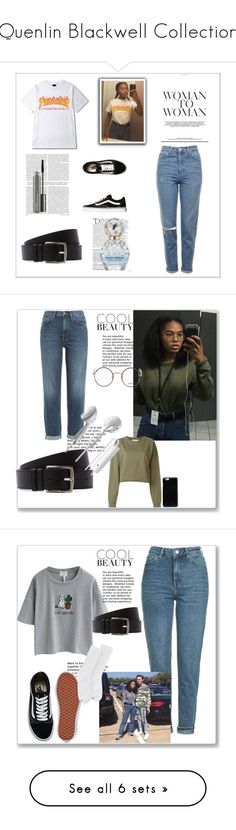 """Quenlin Blackwell Collection"" by llavenderdreams77 ❤ liked on Polyvore featuring Balmain, Marc Jacobs, MAC Cosmetics, Vine, quensadilla, Quenlinblackwell and Kershaw"