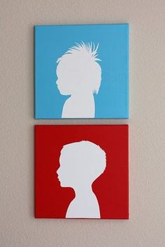 How to do canvas silhouettes. Cute.