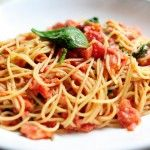 Pioneer Woman tomato and blue cheese pasta