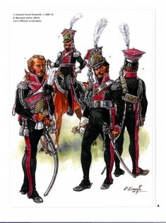 lanciers polonais 1809-1810 officiers 1-Colonel Krasienski