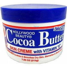 Hollywood Beauty Cocoa Butter Skin Creme with Vitamin E - 7.5oz jar