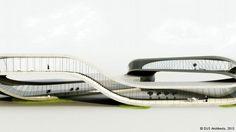 A plan of the Ruijssenaars designed Landscape House in the Netherlands