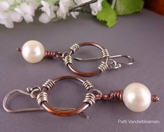 Freshwater Pearls with Copper and Sterling by PattiVanderbloemen