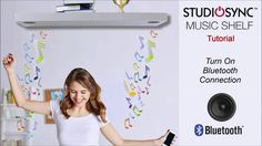 How To Turn On the StudioSync Music Shelf Bluetooth Speakers