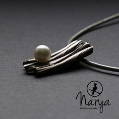 Art clay silver Akoya pearl pendant  pearl  door Naryajewelry, $165.00