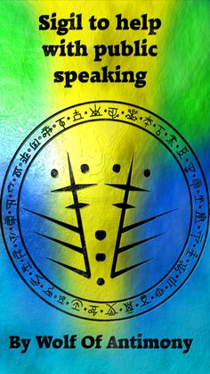 Sigil to help with public speaking