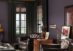 "Sherwin-Williams's Color of the Year is Exclusive Plum (SW6263). ""This dusky, filtered violet is refined without being stuffy and is layered with romantic potential,"" says Jackie Jordan, director of color marketing at Sherwin-Williams"