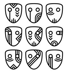 African masks inspired. Would also make really cool nail designs!