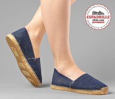 Denim flat Espadrilles with jute Rope sole for Women | Casual Summer Shoe from Spain
