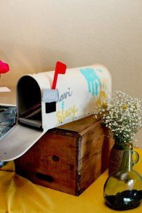 UP mailbox wedding card holder