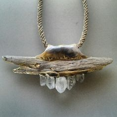 driftwood and crystals