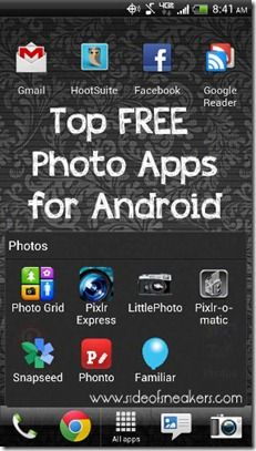 Free photo apps for Android users