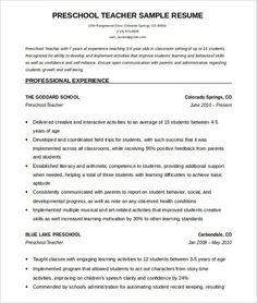 7 Pre K Teacher Resume 4 Preschool Teacher Resume, Teacher Resume Template, Resume Template Free, Microsoft Word, Resume Format, Sample Resume, Cv Format, Curriculum Vitae Examples, Free Resume Examples