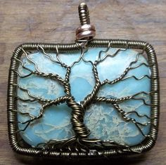 UPCYCLED Green Lace Jasper Tree of Life by alexart on Etsy, $40.00