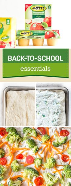 Surprising your little ones with a fun and delicious lunch idea during back-to-school season has never been easier thanks to this recipe for Simple Veggie Pizzas! Paired with the three new flavors of the Mott's 100% Juice Pouches—Apple, Apple White Grape, and Apple Mango—this creative lunch idea comes together in no time. By picking up these ingredients and more at your local Publix, you can feel good about serving good-for-you snacks to your family!
