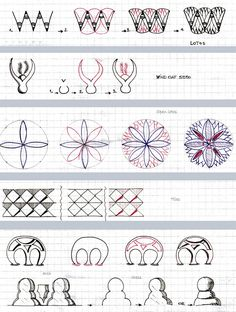 Zentangle - #Zentangle - hand drawn art - zentangle patterns - Zapletkano: Patterns 10-11