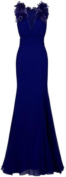 Jason Wu Blue Flower Shoulders Gown