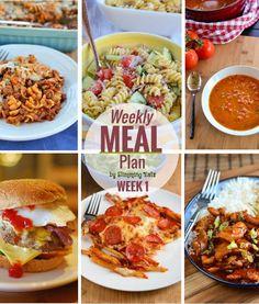 Slimming Eats Weekly Meal Plan - Week 1 - Slimming World Heart Healthy Recipes, Healthy Eating Recipes, Cooking Recipes, Healthy Options, Healthy Eats, Slimming World Recipes Syn Free, Clean Eating Diet Plan, Slimming Eats, Meals For The Week